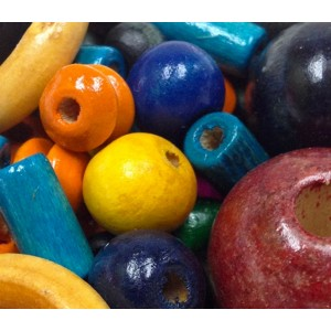 Wooden Beads Coloured