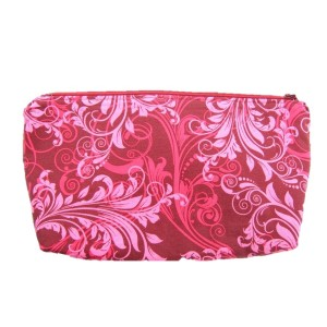 Pink Maroon Baroque Style Pouch
