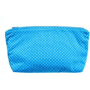 Pouch Blue White Polka Dots
