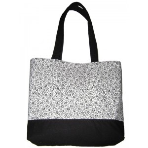 Tote Bag Black & White Flowers