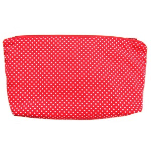 Pouch Red White Polka Dots