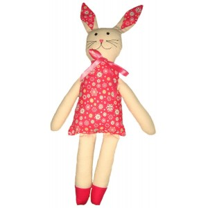 Cloth Floral Rabbit Doll